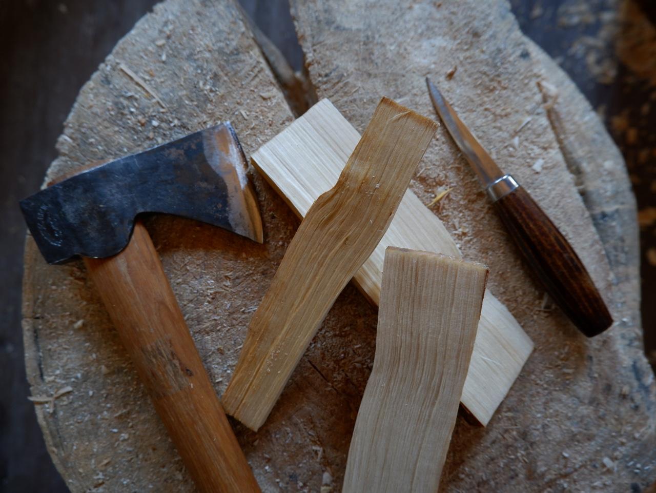 나무와 칼,도끼 : 그린우드카빙