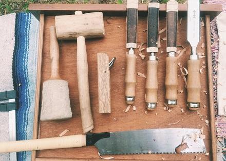 나무 깎는 하루 : 자석 칼걸이 만들기